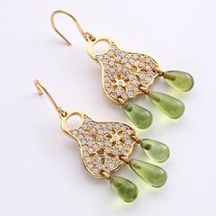 4b191eb0915 Ole Lynggaard: A pair of peridot and diamond ear pendants,